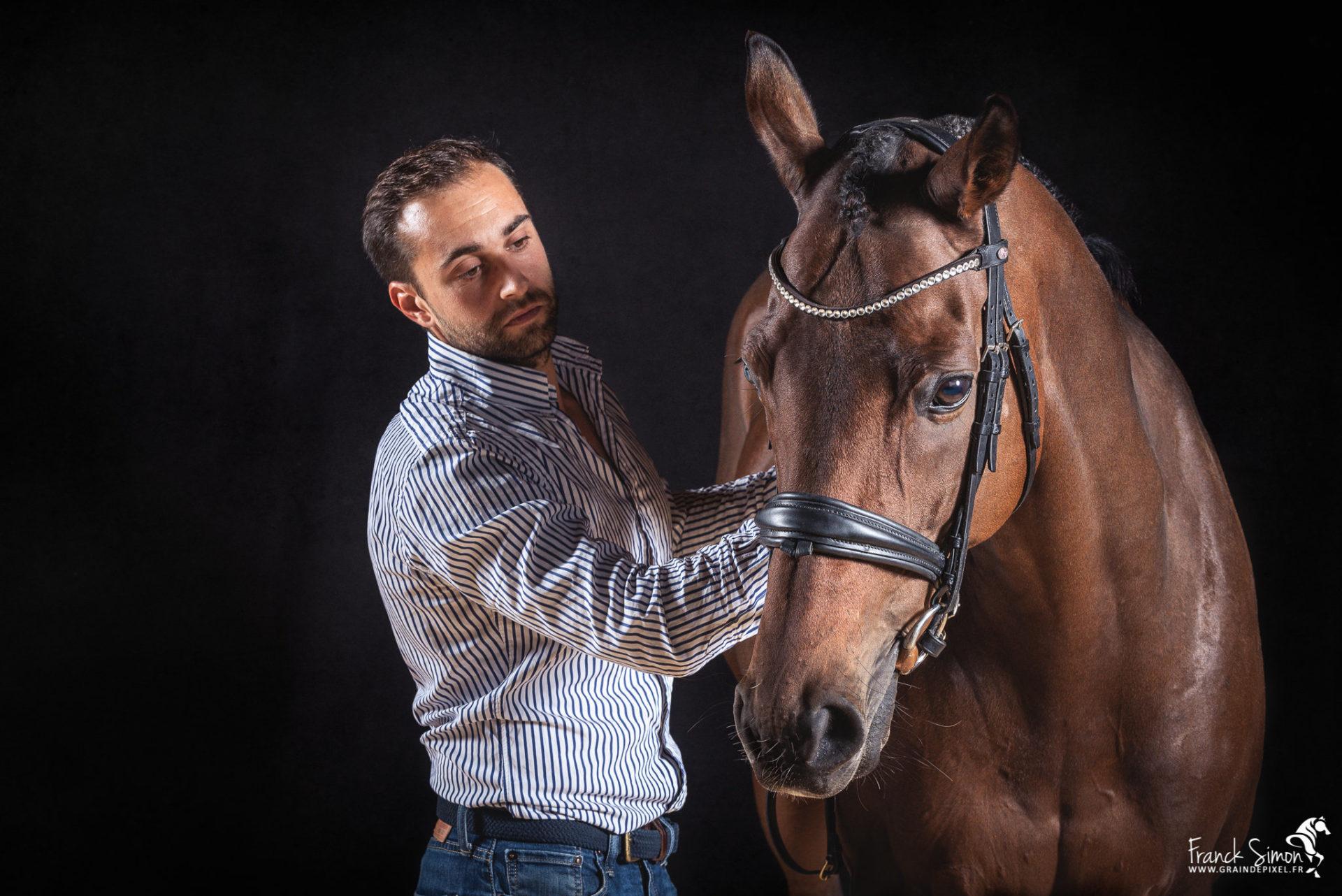 Gaetan et Chrysos, cheval de complet