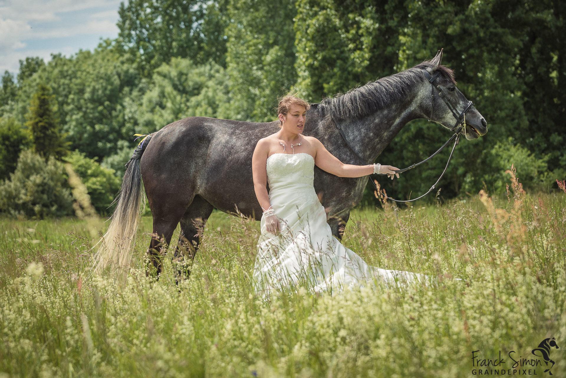 Mathilde et Cyril, mariage et équitation