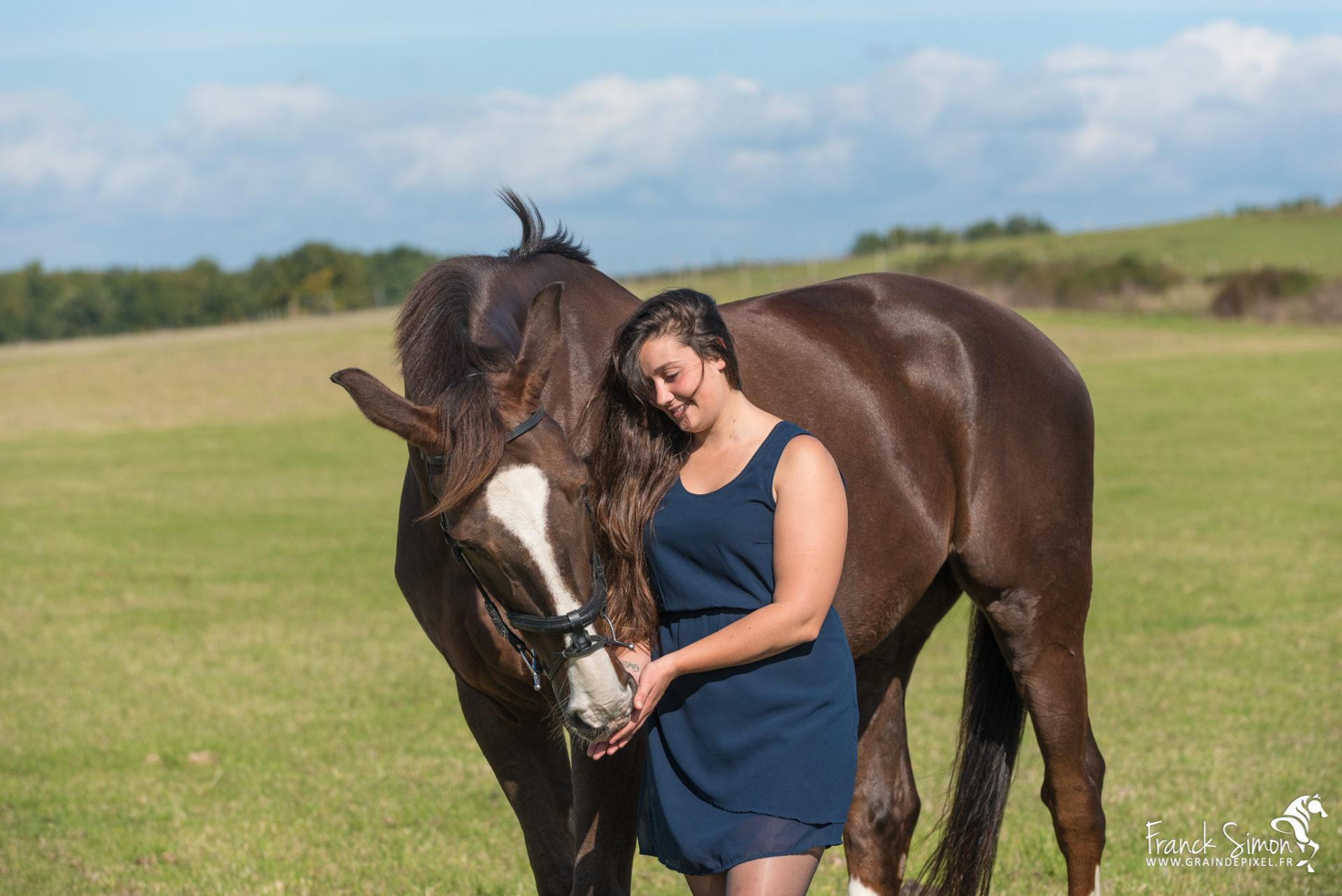 Estelle, séance photo cheval et cavalière