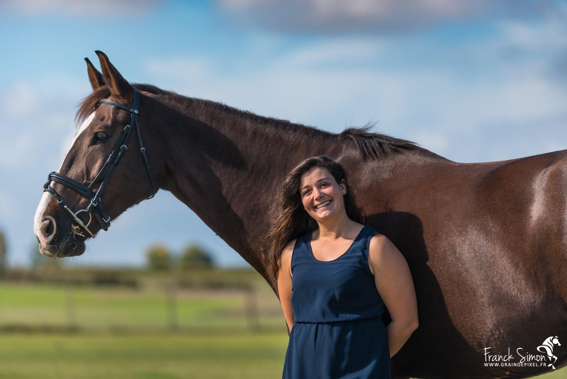 Estelle et son cheval