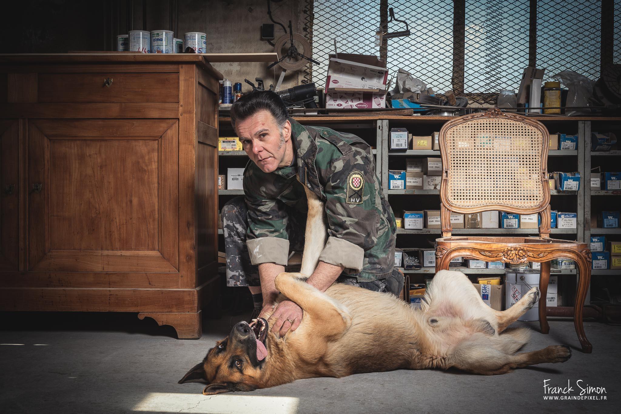 Série photographique animalière : le projet «Maitres et Chiens»