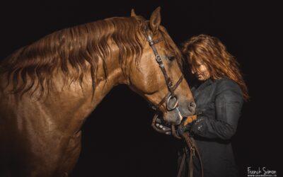 Photo sur fond noir et le cheval : Comment faire une photo avec cette technique ?